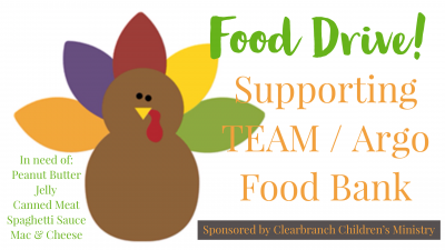 Children's Ministry Food Drive
