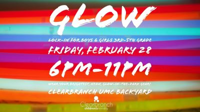 GLOW Children's Lock In